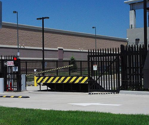 Anti Ram Barrier with Traffic Control Barrier and Slide Gates