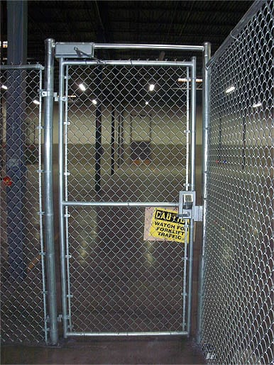 Chain Link Walk Gate with Access Controls