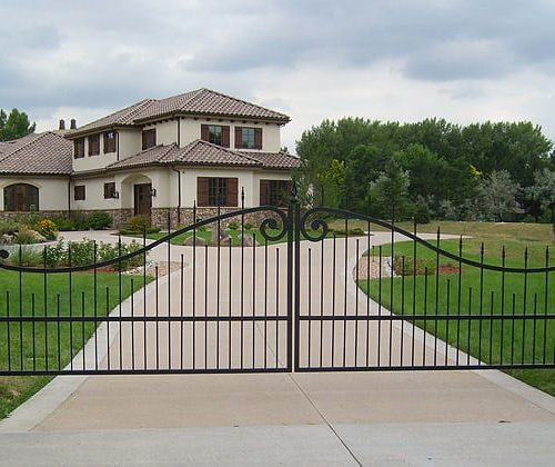 Dual-Swing-Ornamental-Iron-Gates
