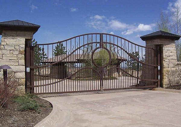 HySecurtiy SwingRisers with Large Ornamental Iron Gates