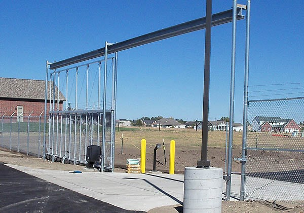 Industrial Overhead Track Gate at a FedEx Facility