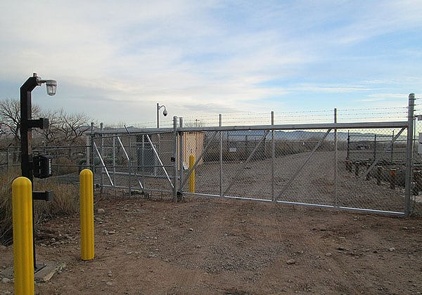 Industrial Slide Gate at Remote Energy Provider Facility