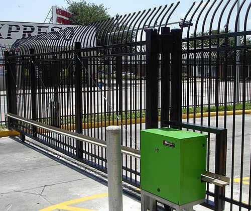Ornamental Iron Cantilever Gate with HySecurity Operator