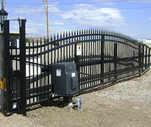 Ornamental Iron Cantilver Gate for Ashcroft Kennels in Ft Collins