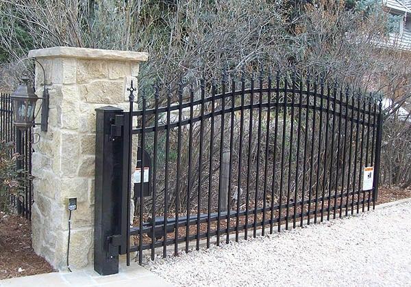 Ornamental Iron Swing Gate