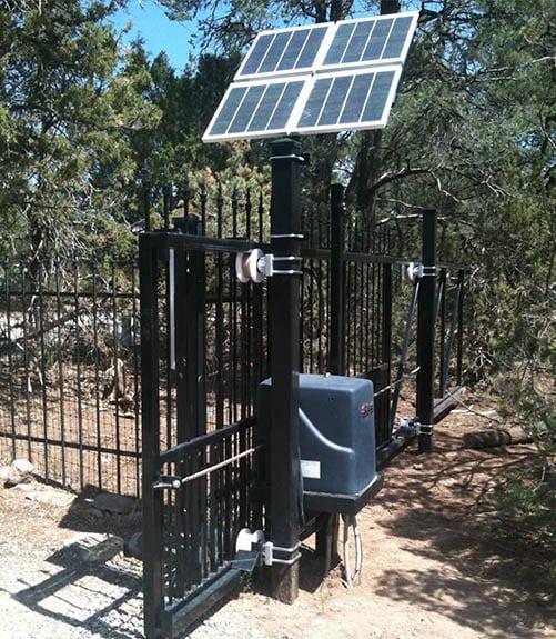 Solar Powered Ornamental Iron Slide Gate