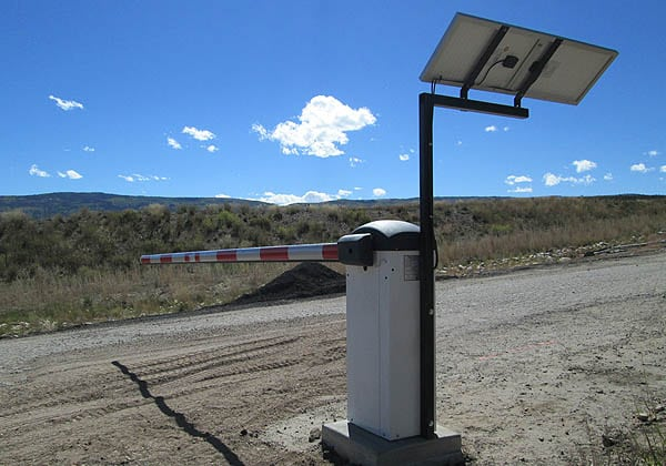 Solar Powered Traffic Control Barrier Remote Location in Vail Area