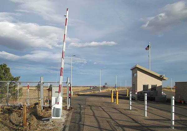 Traffic Control Barrier and Slide Gate for Wind Farm Facility