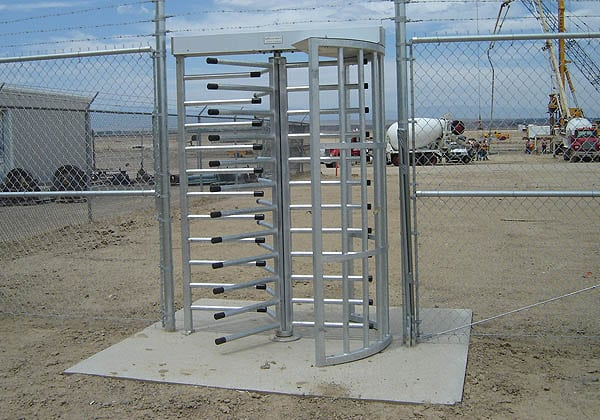 Turnstile for Oil and Gas Facility
