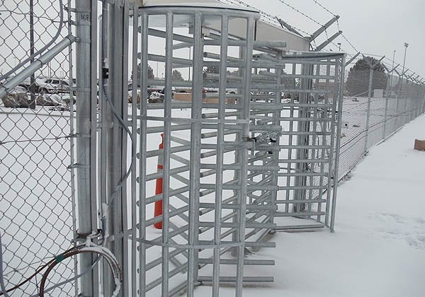 Turnstiles on Buckley AF Base