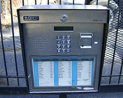 gate access control telephone entry panel