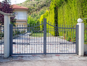 steel security gates install home protection